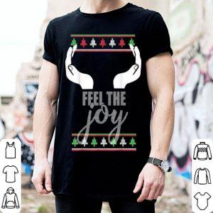 Hot FEEL THE JOY Ugly Christmas Sweater Funny Slutty Boobs shirt