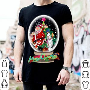 Hot Funny Merry Christmas Snow Globe Santa Claus sweater