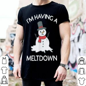 Hot Funny Snowman Having A Meltdown for Christmas Winter sweater
