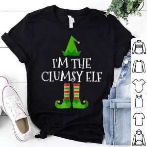 Hot I'm The Clumsy Elf Matching Family Group Christmas shirt