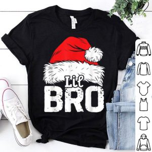 Hot Little Brother Christmas Santa Family Matching Tees shirt