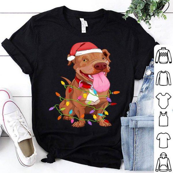 Hot Pitbull Dogs Tree Christmas Sweater Xmas Pet Animal Dog Gift sweater