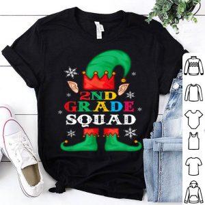 Nice 2nd Grade Squad Elf Matching Group Christmas Gifts Teacher shirt