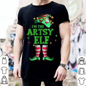 Nice Family Matching Funny Christmas Group gift I'm The Artsy Elf shirt