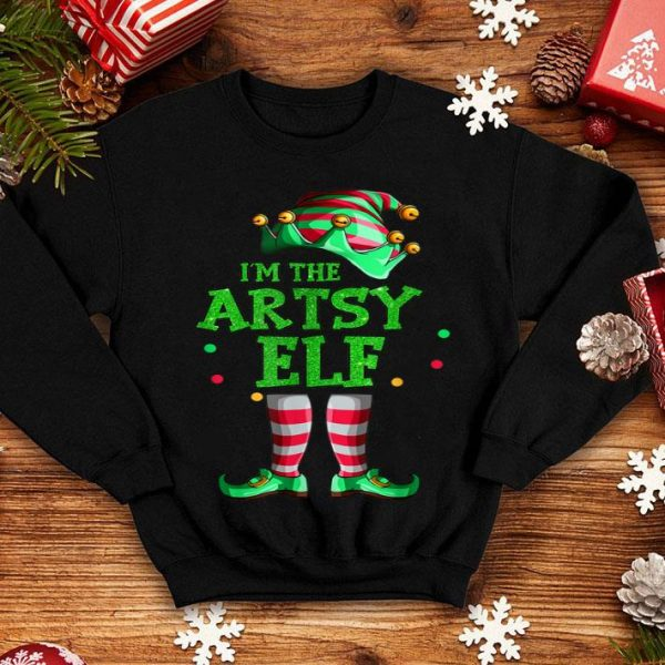 Nice Family Matching Funny Christmas Group gift I'm The Artsy Elf shirt