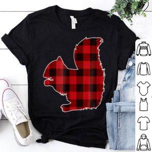 Nice Red Plaid Squirrel Christmas Pajamas Squirrel Gift shirt