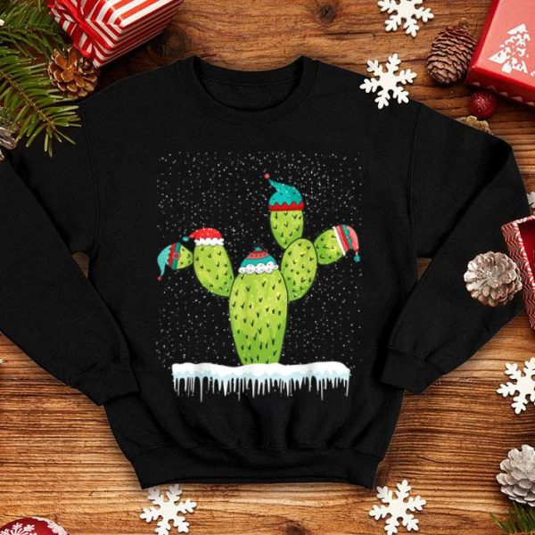 Official Cactus Christmas snow Santa Hat - Cactus Lovers Gift sweater