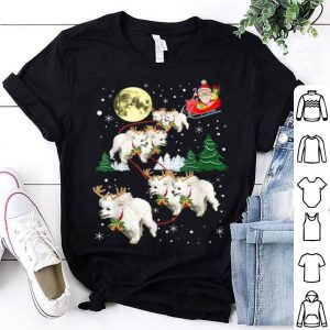 Official Funny Reindeer Poodles Xmas Christmas Dog Lovers Gift shirt