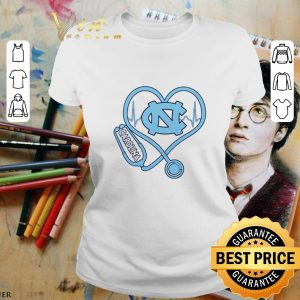 Official Heartbeat Nurse love North Carolina Tar Heels shirt