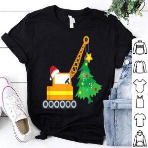 Original Boys Christmas Tree Crane Truck Digger Gift for Toddler sweater