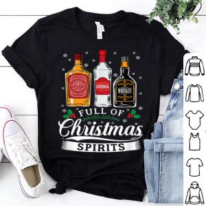 Original Full Of Christmas Spirits Funny Beer Lover Drinking shirt