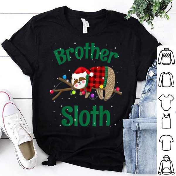 Original Matching Sloth Family Christmas Pajamas Gift For Brother shirt