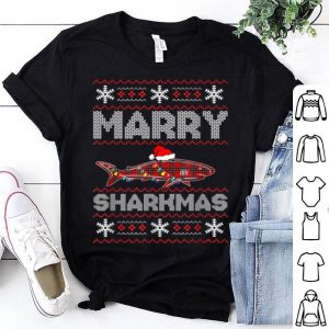 Original Merry Sharkmas Christmas Shark Lover Funny Xmas Holiday Gift shirt