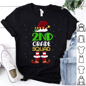 Premium 2nd Grade Squad Christmas Elf Cute For Teacher Students shirt