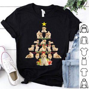 Premium Cute Poochon Dog Christmas Tree shirt