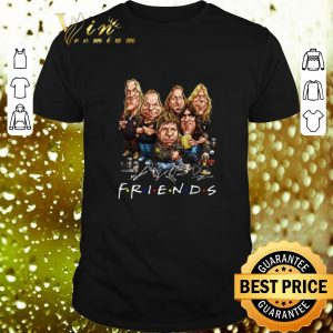 Premium Iron Maiden cartoon friends signatures shirt