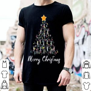 Premium Merry Christmas Hairstylist Funny Scissors Xmas Tree shirt