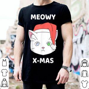 Premium Merry Christmas Meowy Cat Santa Hat Cute Cat Lover Gift shirt