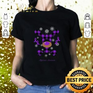 Premium Reindeer Hope For A Cure Alzheimer Awareness Christmas shirt