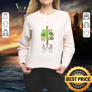 Premium Skeleton Santa Bones Christmas Tree shirt