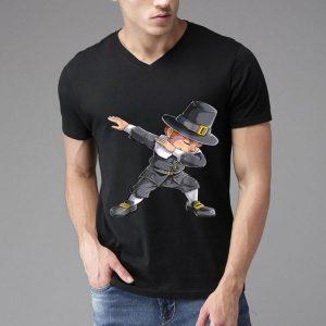 Premium Thanksgiving for Boys Dabbing Pilgrim Kids Dab Men shirt