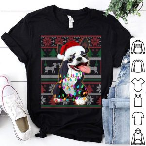 Pretty Boston Terrier Ugly Sweater Christmas Gift shirt