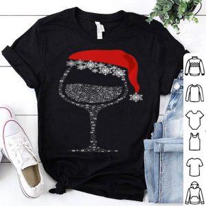 Pretty Glasses Of Wine Rhinestone Christmas Hat Gift sweater