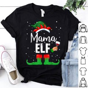 Pretty Mama Elf Wine Matching Family Christmas shirt