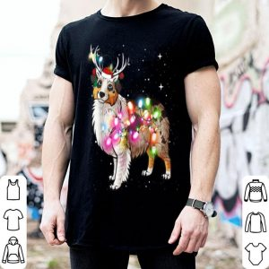 Top Christmas Lights Australian Shepherd Dog sweater