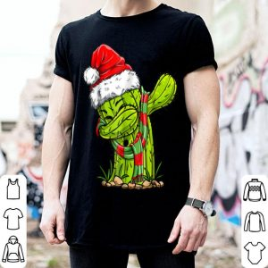 Top Dabbing Cactus Santa Christmas Kids Boys Girls Gifts shirt