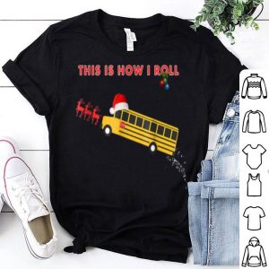 Top Funny School Bus Driver Christmas gift Bus Santa Hat shirt