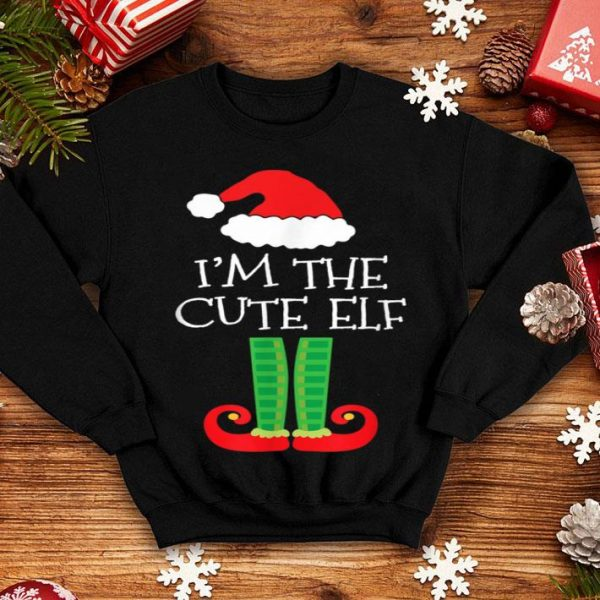 Top I'm The Cute Elf Matching Family Group Christmas shirt