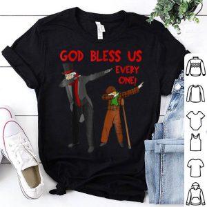 Awesome A Christmas Carol Scrooge & Tiny Tim Dabbing Christmas sweater
