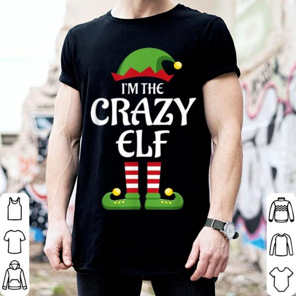 Awesome I'm The Crazy Elf Family Matching Group Christmas Gift sweater