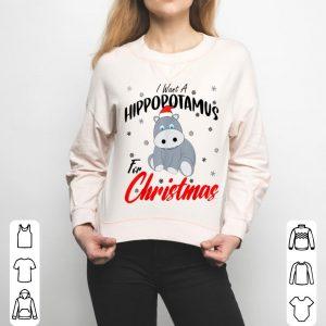 Beautiful I Want A Hippopotamus For Christmas Xmas Hippo sweater