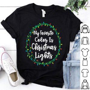 Beautiful My Favorite Color Is Christmas Lights Xmas Pajamas Family sweater
