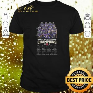 Cheap AFC North Division Champions 2019 Baltimore Ravens signatures shirt