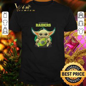 Cheap Baby Yoda hug Canberra Raiders Star Wars shirt