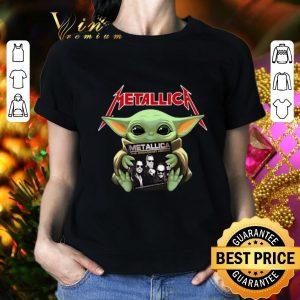 Cheap Baby Yoda hug Metallica Star Wars shirt