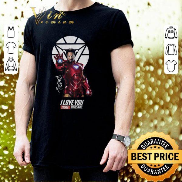 Cheap Iron Man Tony Stark I Love You Three Thousand Signature shirt