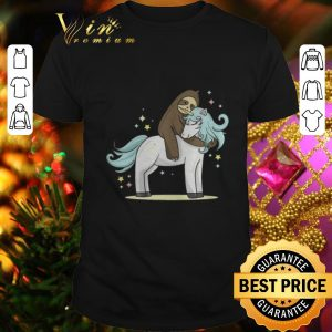 Cheap Sloth riding unicorn shirt