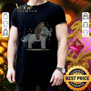 Cheap Sloth riding unicorn shirt 2