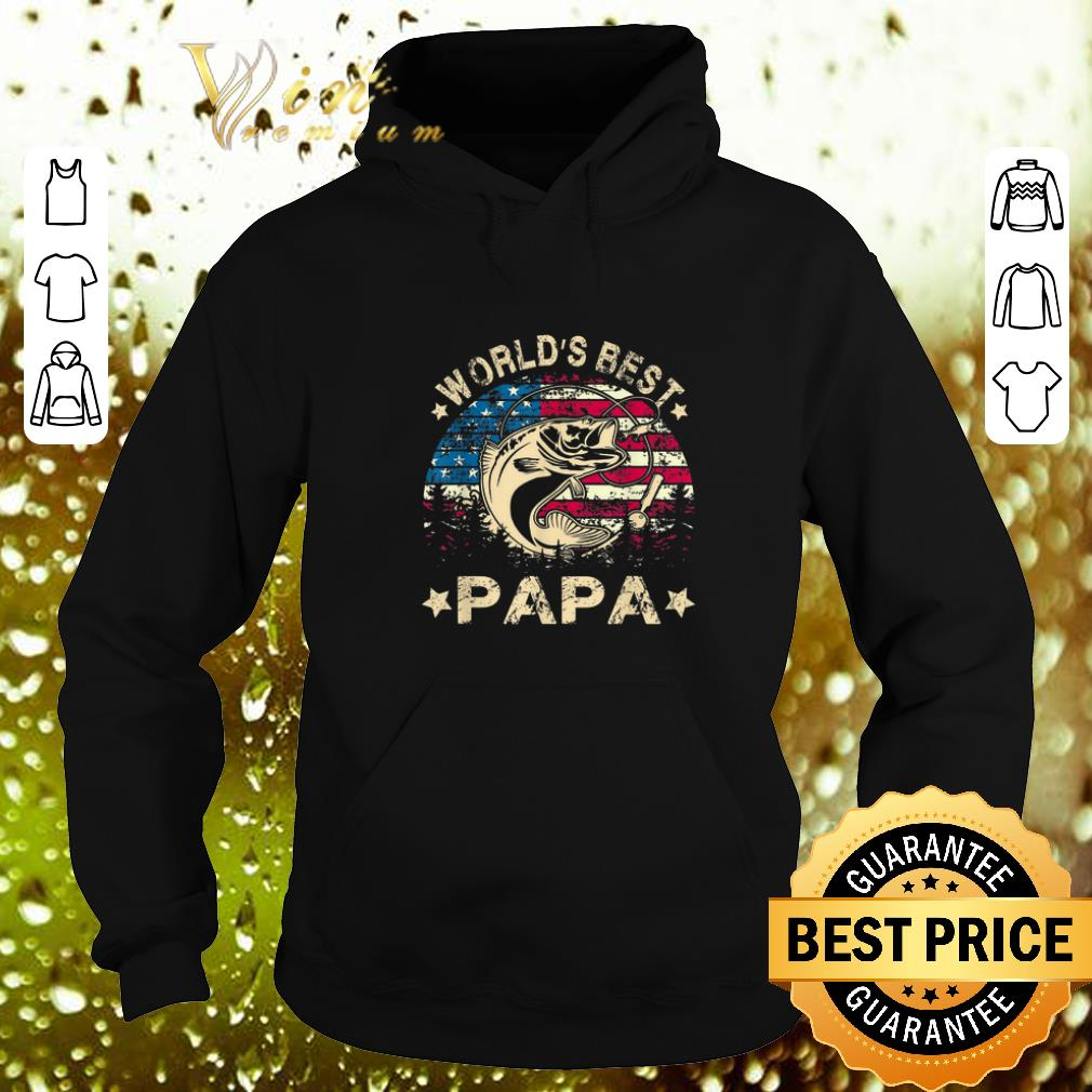 Cheap World s Best Fishing Papa American Flag shirt 4 - Cheap World's Best Fishing Papa American Flag shirt