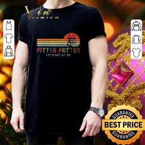 Funny Pitter Patter Let's Get At Er Vintage German Shepherd shirt 2