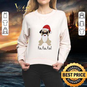 Funny Pug dog santa ho ho ho Christmas shirt