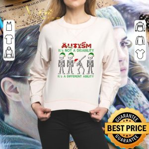Funny Skeleton Autism it's not a disability it's a different ability Christmas shirt