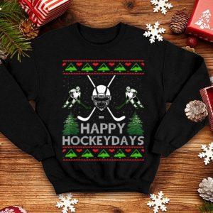 Nice Happy Hockeydays Hockey Christmas Xmas Funny Gift Players sweater