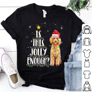 Nice Is This Jolly Enough Poodle Santa Funny Christmas Gift sweater