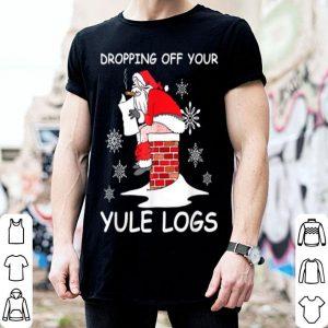 Nice Santa Dropping off Yule Logs Hilarious Christmas sweater
