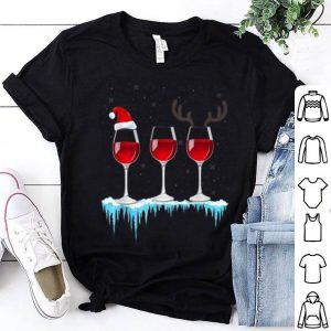 Official Three Glasses of Red Wine Santa Hat Christmas sweater